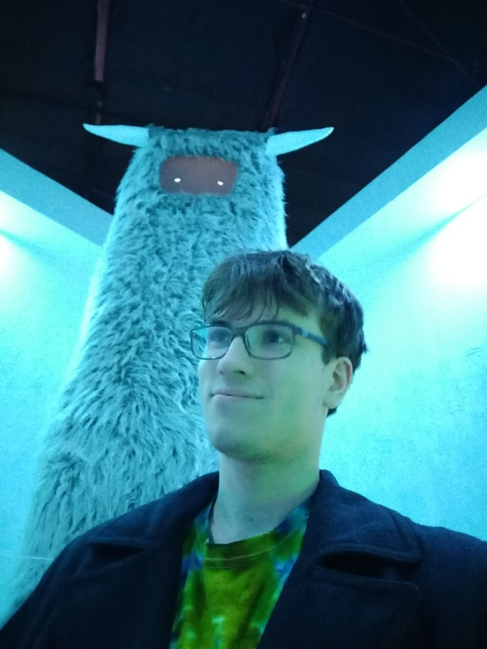 Me with a llama (?)
